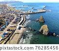 hokkaido, seashore, blue water 76285456