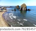 hokkaido, seashore, blue water 76285457