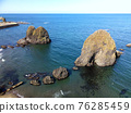 hokkaido, seashore, blue water 76285459