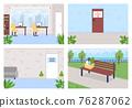 Employment and unemployment flat color vector illustration set 76287062
