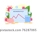 Bankruptcy rate graph flat concept vector illustration 76287065