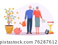 Pension savings money investment in retirement mutual fund 76287612