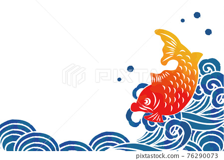 Sea and fish vector illustration material 76290073