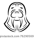 Black and white line art of walrus head. Good use for symbol, mascot, icon, avatar, tattoo, T Shirt design, logo or any design you want. 76290569