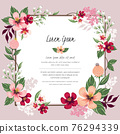 Vector illustration of a floral frame in spring for Wedding, anniversary, birthday and party. Design for banner, poster, card, invitation and scrapbook 76294339