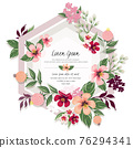 Vector illustration of a floral frame in spring for Wedding, anniversary, birthday and party. Design for banner, poster, card, invitation and scrapbook 76294341