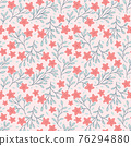 Small red flowers seamless pattern floral background 76294880