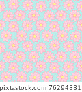 Small pink flowers seamless pattern floral background 76294881