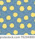 yellow flowers seamless pattern floral background 76294889