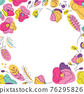 Summer bright floral background for social network 76295826