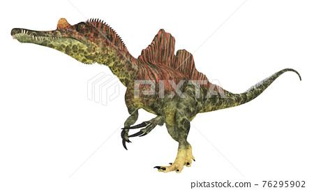 Dinosaur Ichthyovenator isolated on white background 76295902