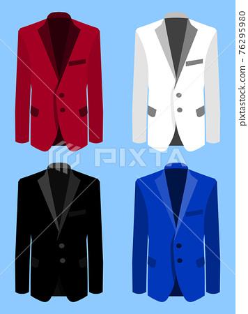Man suit set on blue background. Business. Flat design, vector illustration 76295980