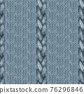 Blue navy realistic knitted seamless pattern. Watercolor hand paint cozy warm knit texture 76296846