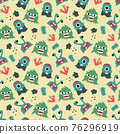monster seamless pattern design. vector illustration 76296919