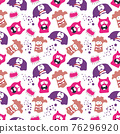 seamless pattern with monsters vector illustration 76296920