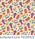monster seamless pattern design. vector illustration 76296922