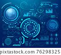 Abstract digital technology Sci- Fi hud style technology background. 76298325