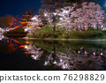 cherry blossoms at night, cherry trees in the evening, cherry blossom 76298829