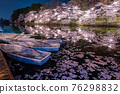 cherry blossoms at night, cherry trees in the evening, cherry blossom 76298832
