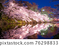 cherry blossoms at night, cherry trees in the evening, cherry blossom 76298833
