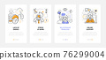 Psychological problems - modern line design style web banners 76299004