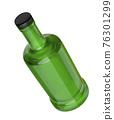 Green glass bottle 76301299
