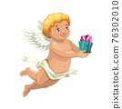 Cupid angel with Valentine Day or wedding gift 76302010