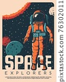 Astronaut in space suit, space explorer poster 76302011