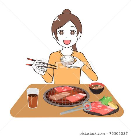 韓國燒烤 燒肉 日式燒肉 76303087