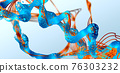 Chain of amino acid or bio molecules called protein - 3d illustration 76303232
