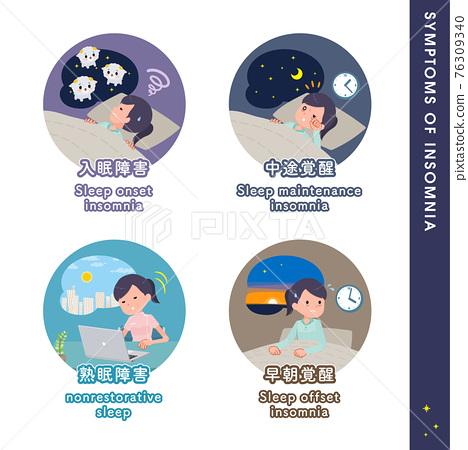 flat type medical staff woman_Symptoms-of-insomnia 76309340