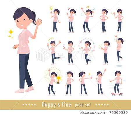 flat type medical staff woman_Fine 76309389