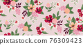 Vector illustration of a seamless floral pattern in spring for Wedding, anniversary, birthday and party. Design for banner, poster, card, invitation and scrapbook  76309423
