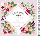 Vector illustration of a floral frame in spring for Wedding, anniversary, birthday and party. Design for banner, poster, card, invitation and scrapbook  76309424