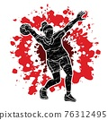 Bowling Sport Female Player Pose Cartoon Graphic Vector 76312495