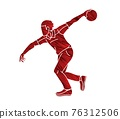 Bowling Sport Male Player Pose Cartoon Graphic Vector 76312506