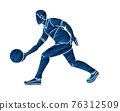 Bowling Sport Male Player Pose Cartoon Graphic Vector 76312509