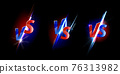 Versus screen design for game and sport battles 76313982