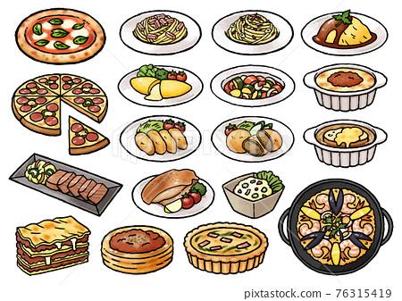 vector, vectors, food 76315419