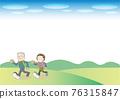 senior, husband and wife, walking 76315847