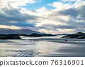 The coastline at Rossbeg in County Donegal during winter - Ireland 76316901