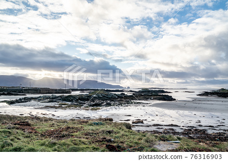 The coastline at Rossbeg in County Donegal during winter - Ireland 76316903