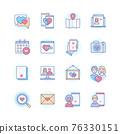 Internet dating - modern line design style icons set 76330151