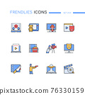 Cinema - modern line design style icons set 76330159