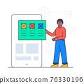 Web development - colorful flat design style illustration 76330196