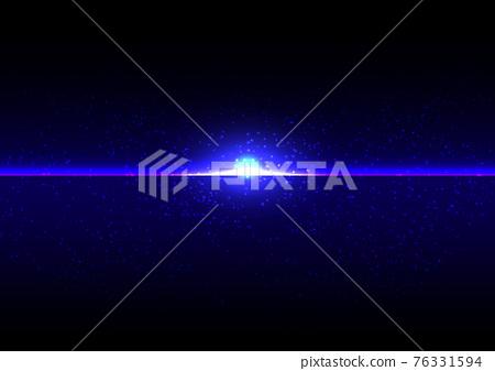 abstract futuristic blue light on dark background. Illustration Vector design technology concept 76331594