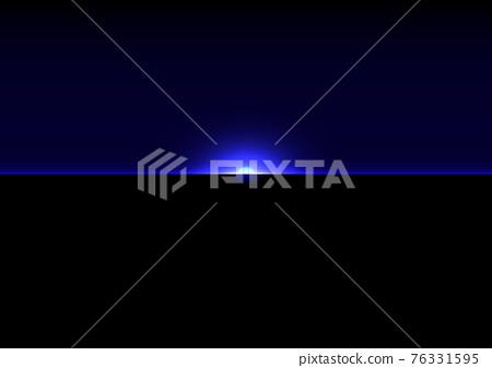 abstract futuristic blue light on dark background. Illustration Vector design technology concept 76331595