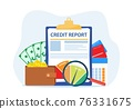 Credit report document concept. 76331675