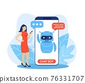 Chatbot ai and customer service concept. 76331707