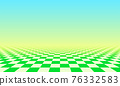 Abstract checkered floor in green surreal interior. Room with no horizon and tiled floor. 76332583